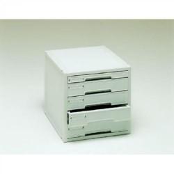 Buck organitec 400 serie 20 1 cajón b + 4 cajones c 303x316x356 mm. en color gris.