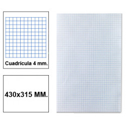 Papel florete liderpapel en formato 430x315 mm. de 60 grs/m². 4x4 mm. paquete de 250 hojas.