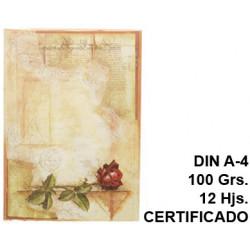 Papel pergamino liderpapel en formato din a-4 de 100 grs/m². certificado, paquete de 12 hojas.