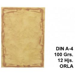Papel pergamino liderpapel en formato din a-4 de 100 grs/m². orla, paquete de 12 hojas.