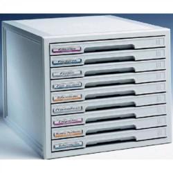 Buck organitec 400 serie 20 9 cajones b 303x316x356 mm. en color gris.