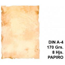 Papel pergamino liderpapel en formato din a-4 de 170 grs/m². papiro, paquete de 8 hojas.