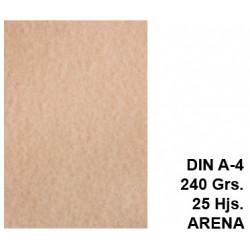 Papel pergamino liderpapel en formato din a-4 de 240 grs/m². color arena, paquete de 25 hojas.