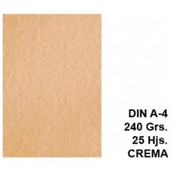 Papel pergamino liderpapel en formato din a-4 de 240 grs/m². color crema, paquete de 25 hojas.