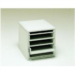 Buck organitec 400 serie 20 1 bandeja x + 4 bandejas z 303x316x356 mm. en color gris.