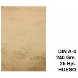 Papel pergamino liderpapel en formato din a-4 de 240 grs/m². color hueso, paquete de 25 hojas.