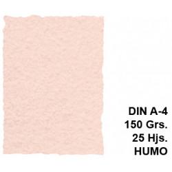 Papel pergamino michel en formato din a-4 de 150 grs/m². color humo, paquete de 25 hojas.