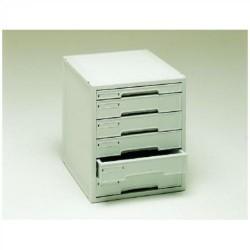 Buck organitec 400 serie 30 1 cajón b + 5 cajones c 362x316x356 mm. en color gris.
