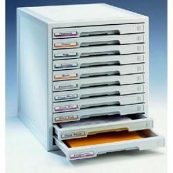Buck organitec 400 serie 30 11 cajones b 362x316x356 mm. en color gris.