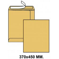 Bolsa con tira de silicona liderpapel en formato 370x450 mm. kraft, 90 grs/m². color marrón.