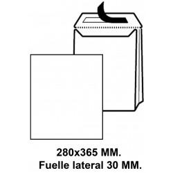 Bolsa fuelle con tira de silicona liderpapel en formato 280x365x30 mm. kraft, 120 grs/m². color marrón.