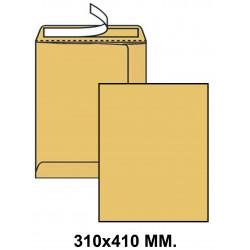Bolsa con tira de silicona liderpapel en formato 310x410 mm. kraft, 90 grs/m². color marrón.