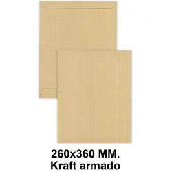 Bolsa con tira de silicona liderpapel en formato 260x360 mm. kraft armado, 120 grs/m². color marrón.