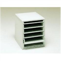 Buck organitec 400 serie 30 1 bandeja x + 5 bandejas z 362x316x356 mm. en color gris.