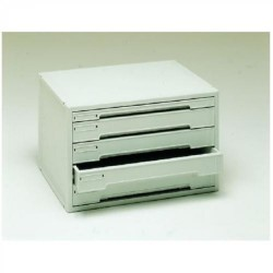 Buck organitec 400 serie 50 1 cajón h + 4 cajones k 303x474x356 mm. en color gris.