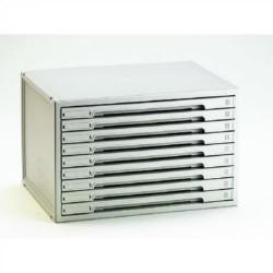 Buck organitec 400 serie 50 9 cajones h 303x474x356 mm. en color gris.