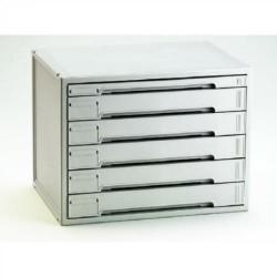 Buck organitec 400 serie 60 1 cajón h + 5 cajones k 362x474x356 mm. en color gris.