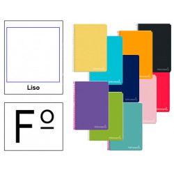 Cuaderno espiral tapa dura liderpapel serie inspire en formato fº, 80 hj. 60 grs. liso s/m. 8 colores surtidos.