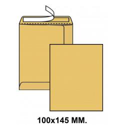 Bolsa con tira de silicona liderpapel en formato 100x145 mm. kraft, 70 grs/m². color marrón.