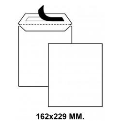 Bolsa con tira de silicona up 162x229 mm. offset, 90 grs/m². blanco, caja de 250 uds.