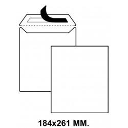 Bolsa con tira de silicona up en formato 184x261 mm. offset, 100 grs/m². color blanco.