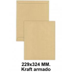 Bolsa con tira de silicona liderpapel en formato 229x324 mm. kraft armado, 120 grs/m². color marrón.