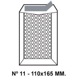 Bolsa burbujas q-connect nº 11 de 110x165 mm. kraft marrón.