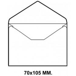Sobre engomado liderpapel en formato 70x105 mm. offset, 80 grs/m². color blanco, caja de 100 uds.