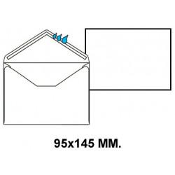 Sobre engomado liderpapel en formato 95x145 mm. offset, 70 grs/m². color blanco.