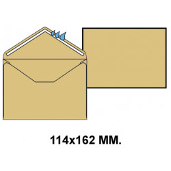 Sobre engomado liderpapel en formato 114x162 mm. offset, 70 grs/m². color crema.