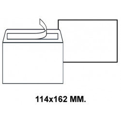 Sobre con tira de silicona liderpapel en formato 114x162 mm. offset, 90 grs/m². color blanco.