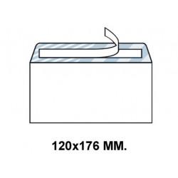 Sobre con tira de silicona up en formato 120x176 mm. offset, 90 grs/m². color blanco.