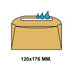 Sobre engomado sam 120x176 mm. caña verjurado, 70 grs/m². crema, caja de 500 uds.