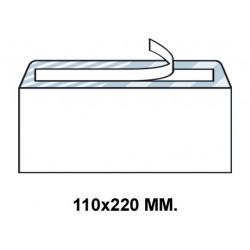Sobre con tira de silicona up en formato 110x220 mm. offset, 90 grs/m². color blanco.