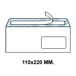 Sobre con tira de silicona up en formato 110x220 mm. con ventana derecha de 45X100 mm. offset, 90 grs/m². color blanco.