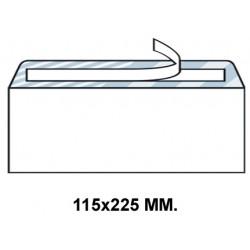Sobre con tira de silicona up en formato 115x225 mm. offset, 90 grs/m². color blanco.