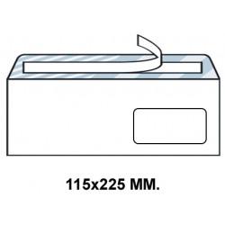 Sobre con tira de silicona up en formato 115x225 mm. con ventana derecha de 45X100 mm. offset, 90 grs/m². color blanco.