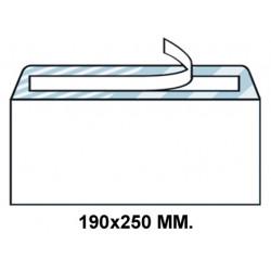 Sobre con tira de silicona up en formato 190x250 mm. offset, 90 grs/m². color blanco.