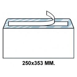 Sobre con tira de silicona liderpapel en formato 250x353 mm. offset, 90 grs/m². color blanco.