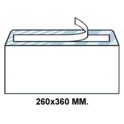 Sobre con tira de silicona up en formato 260x360 mm. offset, 100 grs/m². color blanco.