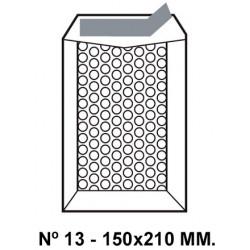 Bolsa burbujas q-connect nº 13 de150x210 mm. kraft marrón.