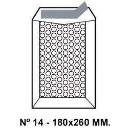 Bolsa burbujas q-connect nº 14 de180x260 mm. kraft marrón.