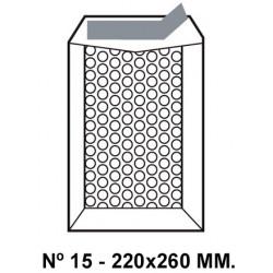 Bolsa burbujas q-connect nº 15 de 220x260 mm. kraft marrón.