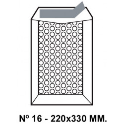 Bolsa burbujas q-connect nº 16 de 220x330 mm. kraft marrón.