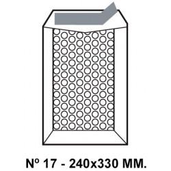 Bolsa burbujas q-connect nº 17 de 240x330 mm. kraft marrón.