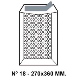 Bolsa burbujas q-connect nº 18 de 270x360 mm. kraft marrón.