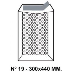 Bolsa burbujas q-connect nº 19 de 300x440 mm. kraft marrón.