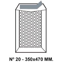Bolsa burbujas q-connect nº 20 de 350x470 mm. kraft marrón.