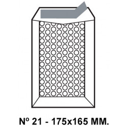 Bolsa burbujas q-connect nº 21 de 175x165 mm. kraft marrón.