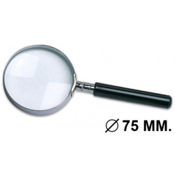 Lupa de lectura q-connect, cristal óptico antiderformación, 3 aumentos, diámetro de 75 mm.